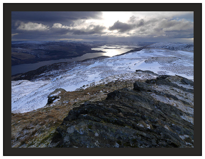 A 01324 South over Loch Lomond from the summit of Beinn Bhreac