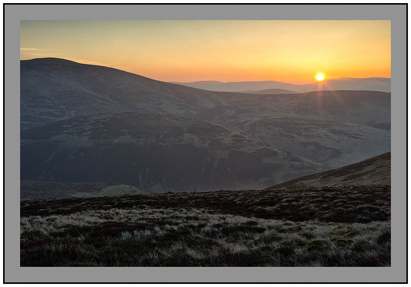S2016337 Sunrise over Culter Fell and the Tweedsmuir Hills from Hudderstone
