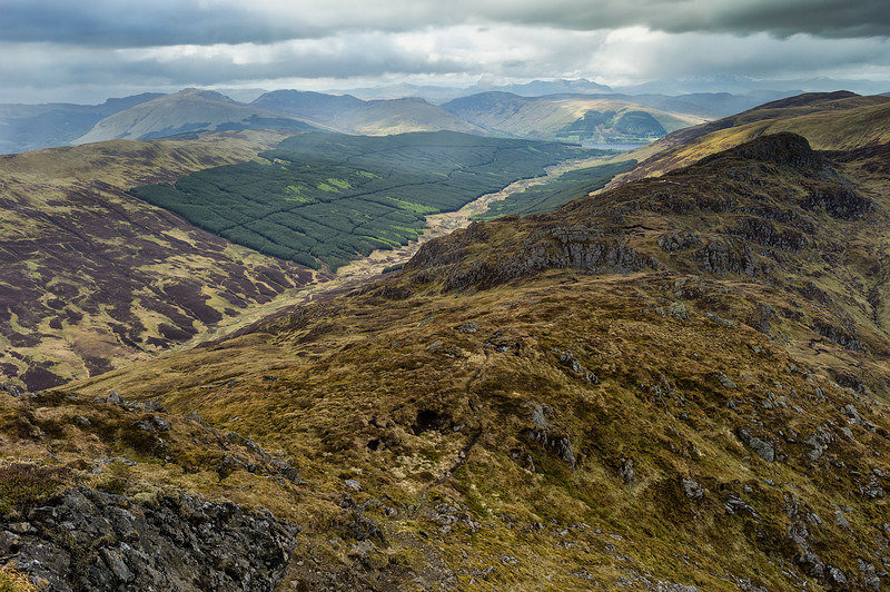 S2017412 The view north from Beinn Each-past Stuc a Chroin along Glen Ample to Meall an t-Seallaidh Loch Earn and the Ben Lawers range