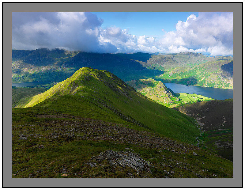 A 5057 Whiteles Pike with Buttermere and Crummock Water beyond
