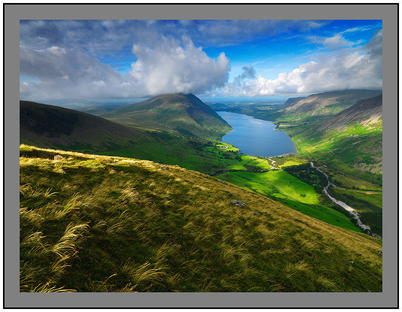 August 2009-Illgill Head and Wastwater South Western Cumbrian Fells Cumbria England.