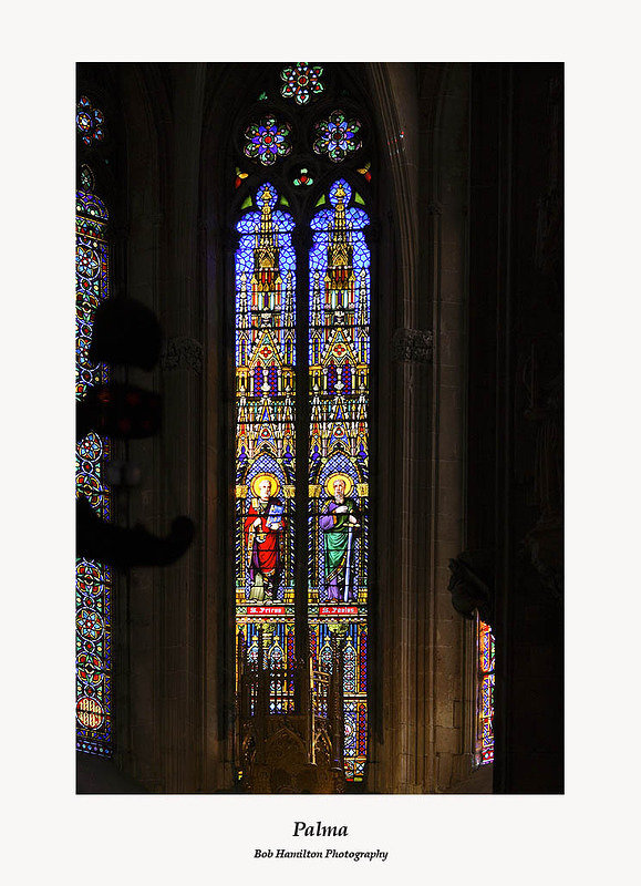 Palma Cathedral-stained glass window