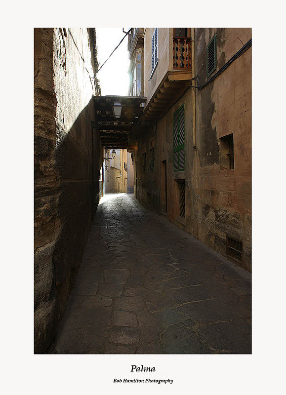 Palma-typical street in the old town