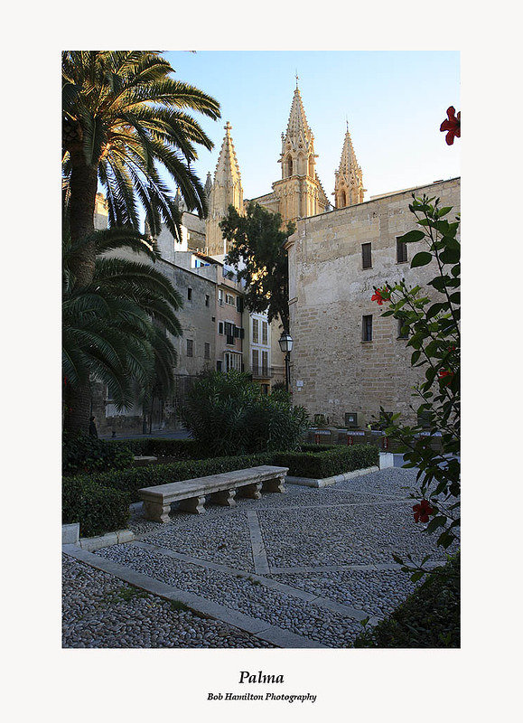 Palma-Cathedral Spires in the evening light