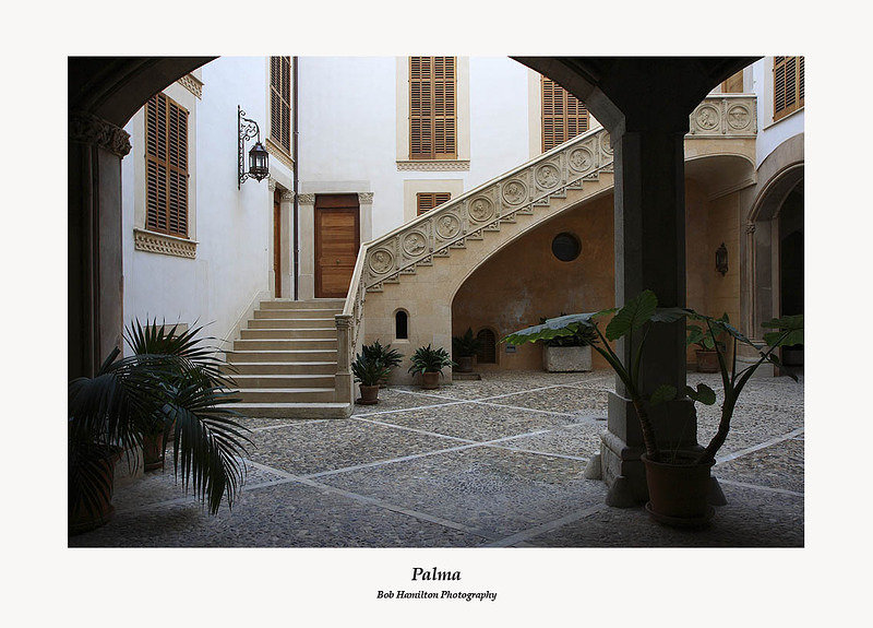 Palma-Typical courtyard