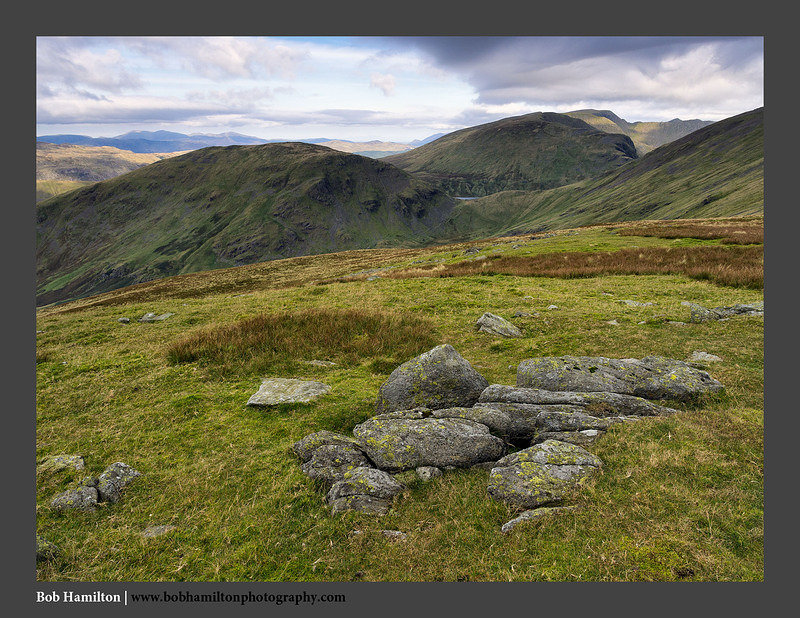 O125818 Seat Sandal and the Helvellyn Range from Great Rigg