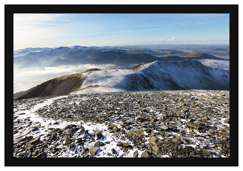 46E8022 Carl Side Longside Edge and the Coledale peaks from Skiddaw