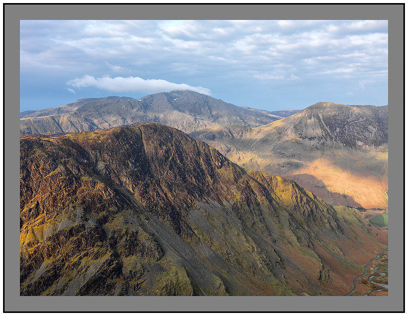 A07869 Early morning light on Pillar over Fleetwith Pike