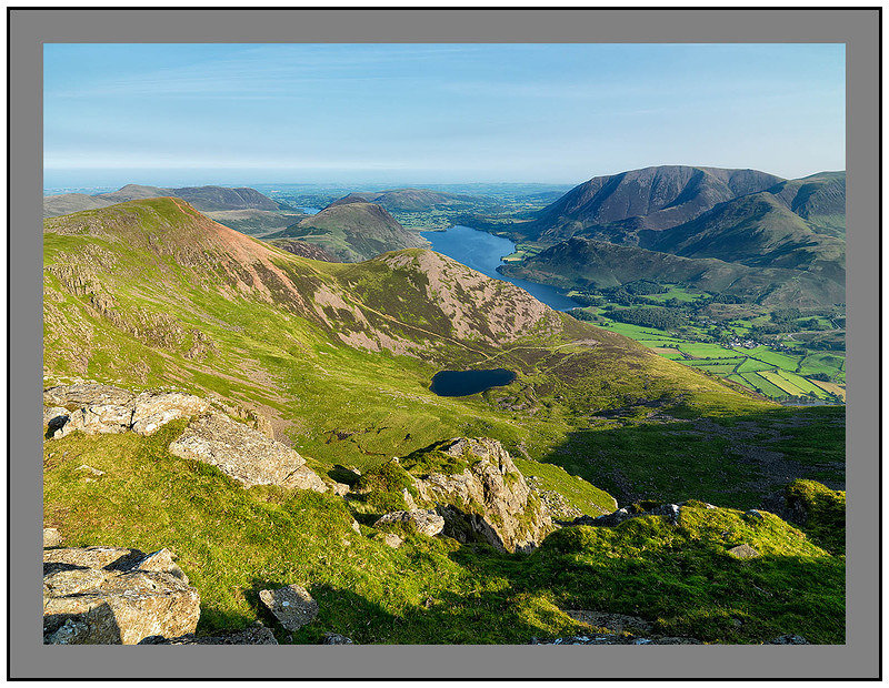 A 09681 Early morning light on Red Pike Crummock Water and Grasmoor from High Stile