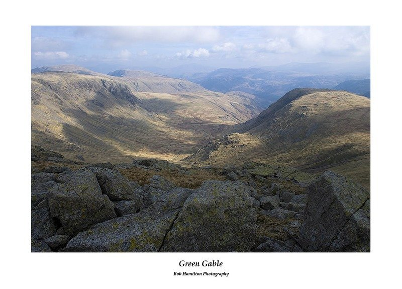 Grey Knotts Dale Head High Spy Gillercomb Borrowdale and Base Brown from Green Gable