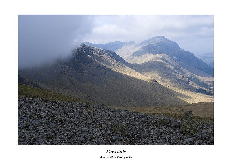 Kirk Fell Crags Mosedale and Pillar from Gillercomb Head