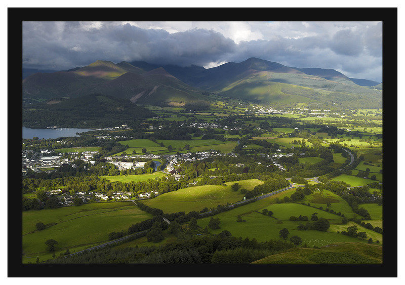 L1001312 The Coledale and Whinlatter Fells across Keswick and Braithwaite from Latrigg