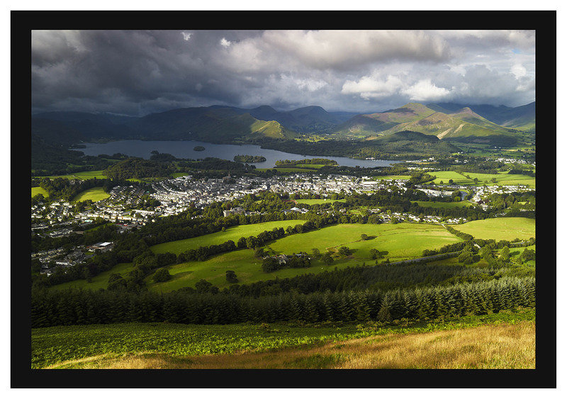 L1001335 Early morning light on Keswick and Derwent Water from Latrigg