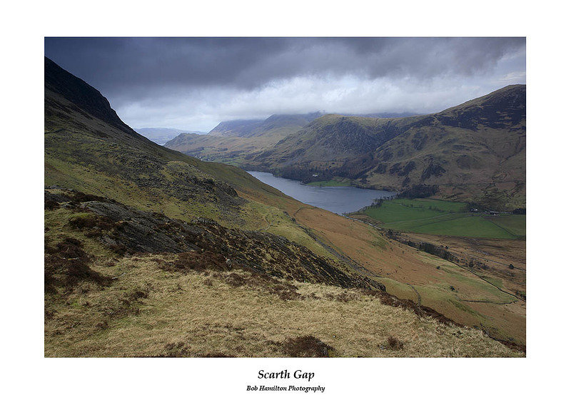 Stormy day over Buttermere seen from Scarth Gap