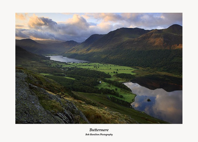 Sunrise on Buttermere Red Pike and Crummock Water from Rannerdale Knotts
