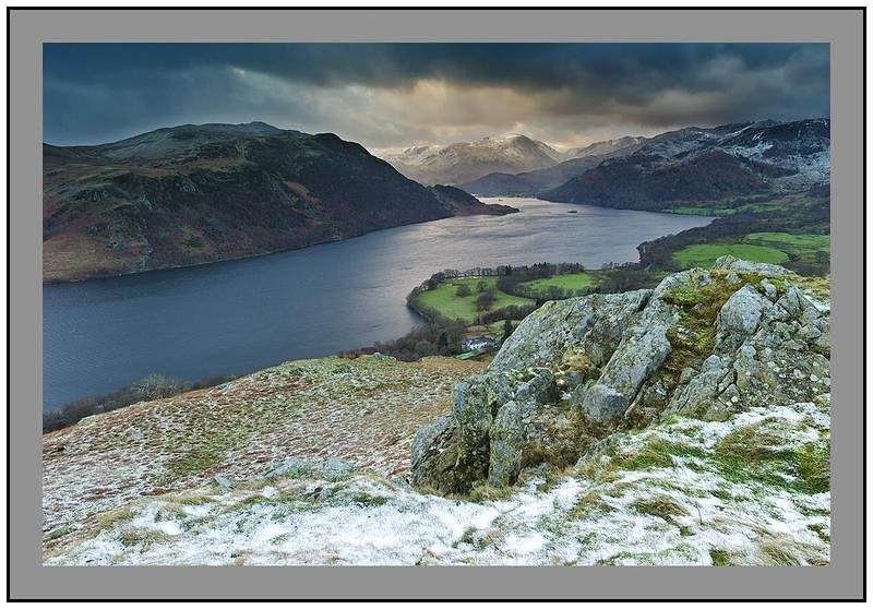 S2014294 Daybreak on Ullswater Glenridding and the Helvellyn Massif from Gowbarrow Fell