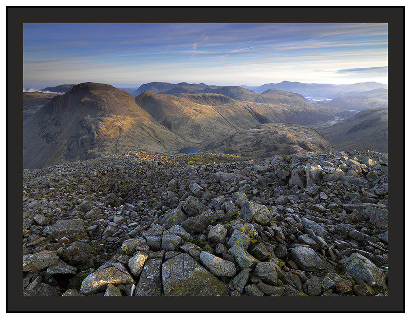 A 02226 First light on Great Gable Borrowdale and Derwent W