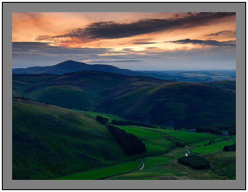 A 5728 Sunset over Tinto Hill from Fell Shin on Culter Fell