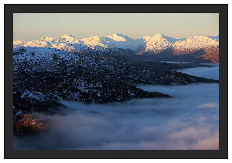 46E0479 Daybreak on the Arrochar Alps seen from Ben A'an