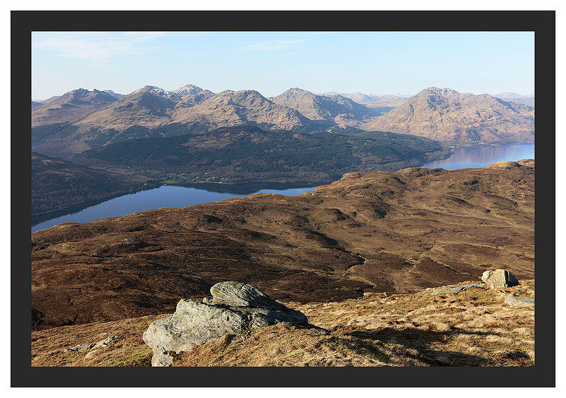 46E0831 The Arrochar Alps from Ben Lomond's Ptarmigan Ridge