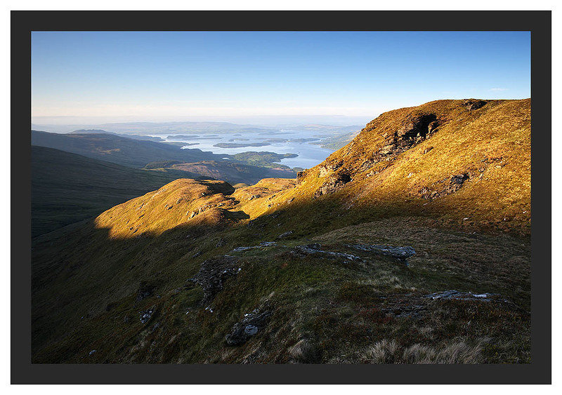 46E3607 Ben Lomond's Ptarmigan Ridge with Loch Lomond beyond