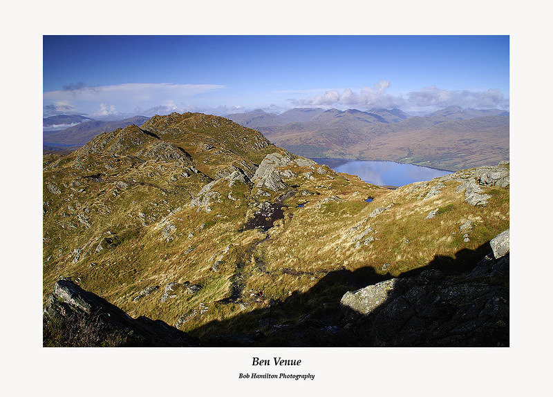 Ben Venue west top and Loch Katrine from the summit of Ben Venue