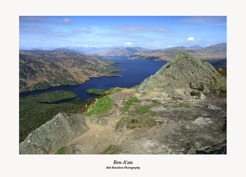 The summit of Ben A'an with Loch Katrine beyond