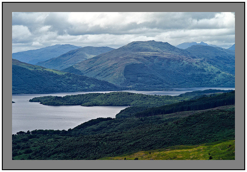 L1003777 Loch Lomond Beinn Bhreac and the Arrochar Alps from Conic Hill
