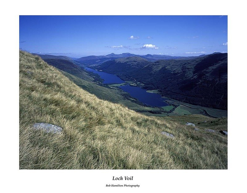 Loch Voil from the slopes of Stob Binnein