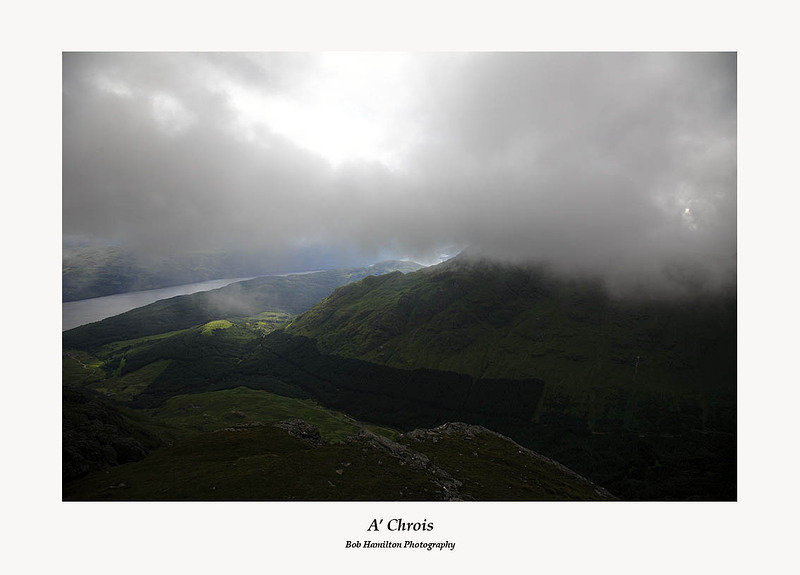 Low Cloud over Loch Lomond and A' Chrois from the summit of Ben Vane