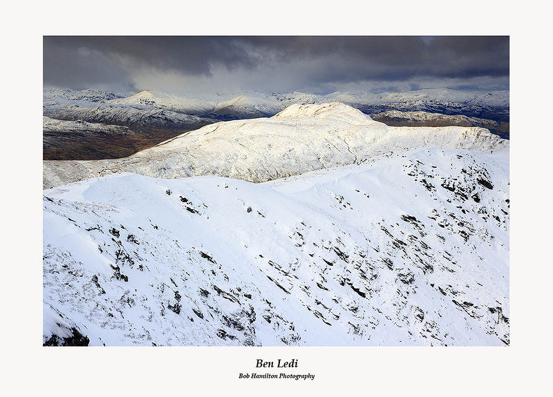The Crianlarich hills from the summit of Ben Ledi
