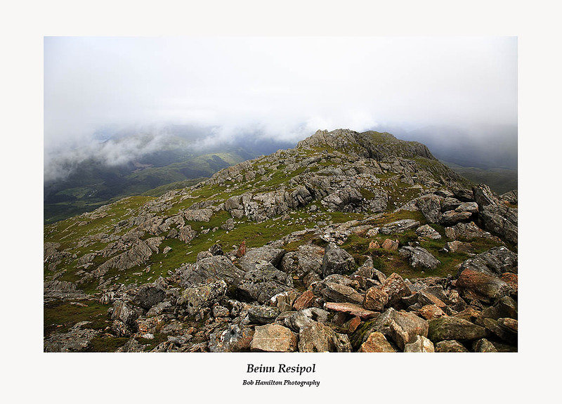 The summit of Beinn Resipol on a typical mountain day