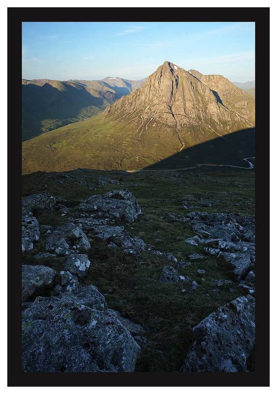 46E3690 Early morning light on Buachaille Etive Mor from Beinn a'Chrulaiste