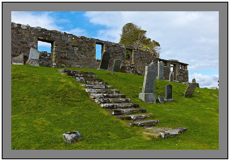 L1002965 The ruined church of Cill Chriosd Isle of Skye