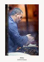 Palma-Hot Chestnut seller in Placa Major