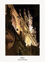 Palma-floodlit building on Placa Mercat