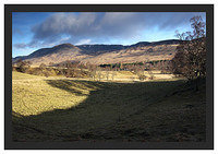 46E1297 Looking towards the Corrie of Clova across Glen Clova