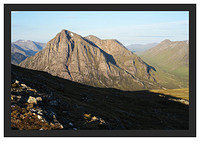46E3733 Early morning light on Buachaille Etive Mor and Lairig Gartain from Beinn a'Chrulaiste