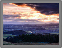 A4514419 Sunset over Stirling from Dumyat