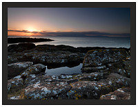 A 00391 Sunset over Arran from Portencross