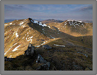A 02726 Beinn Ghlas Meall Corranaich and a distant Stob Binnein and Ben More from Ben Lawers