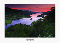 Sunset over Loch Tummel and Schiehallion from the Queen's View