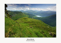 Lochgoilhead and the Arrochar Alps from Beinn Bheula