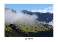 Cloud clears from Ben Cruachan's summit