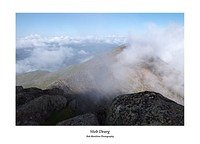 Stob Dearg glimpsed through cloud from the summit of Ben Cruachan