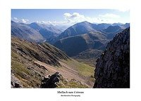 Glen Nevis the Aonachs the Grey Corries and Sgurr a' Mhaim from Mullach nan Coirean