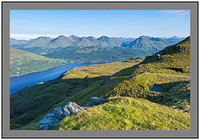L1000942 Early morning light on Loch Lomond and the Arrochar Alps from Ptarmigan