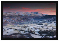 46E8168 Sunset on St John's in the Vale and Helvellyn from Latrigg