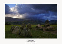 Weather on Clough Head seen over Castlerigg Stone Circle