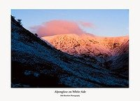 Alpenglow on White Side from below Catseye Cam